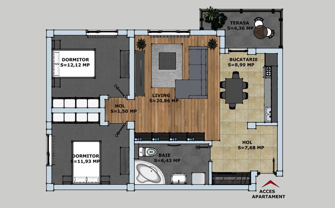Bloc L3 Bucium, Cartier Rezidential