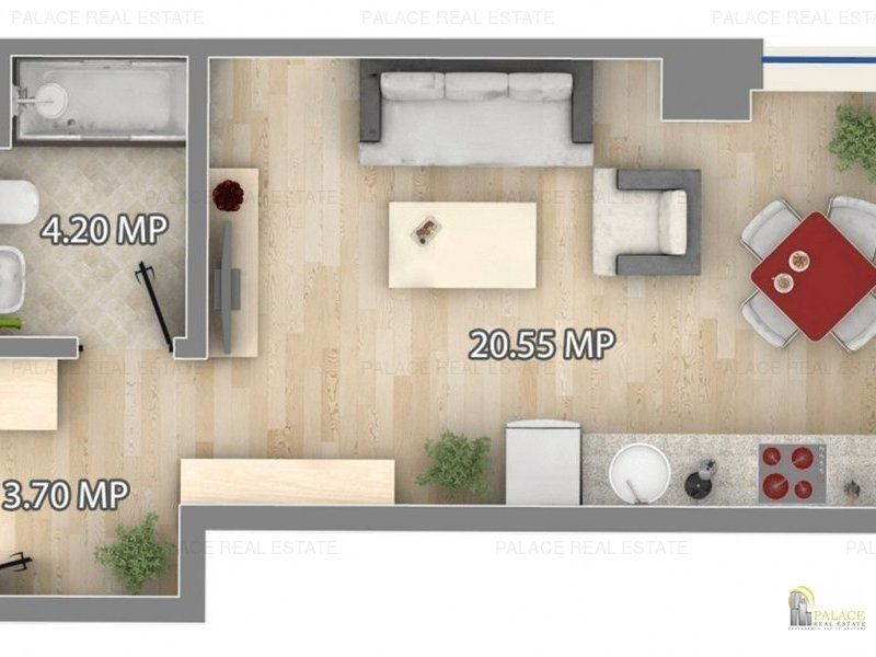 Apartament de vanzare, 1 camera, 29 mp, Pacurari bloc nou