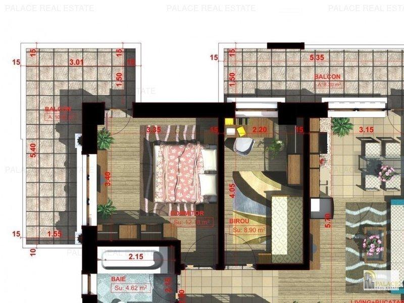 Comision 0% Apartament  3 camere, 68 mp, Valea Adanca