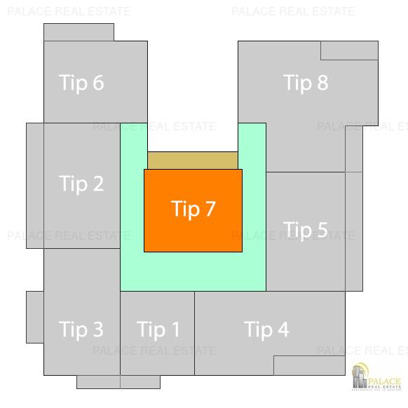 Apartament 2 camere, 53.34 mp, bloc nou, Pacurari  Rond Proges