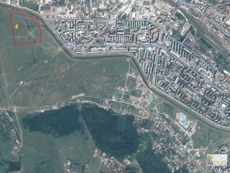 Vanzare teren 50000 mp +PUZ P+10 E zona cartier Dacia