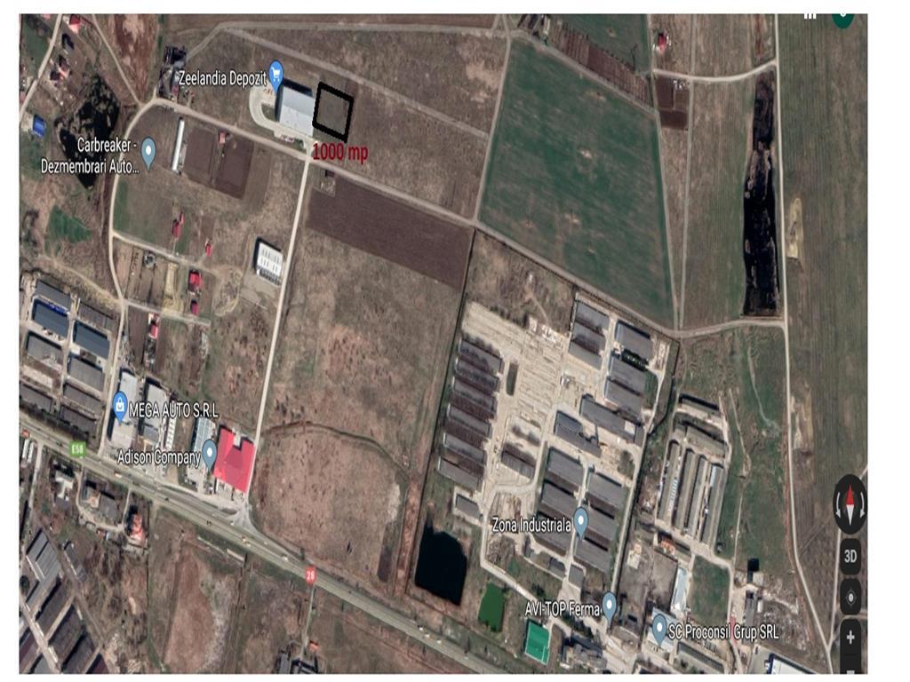 teren 1000 mp, intravilan , ideal  pentru depozit  industrial
