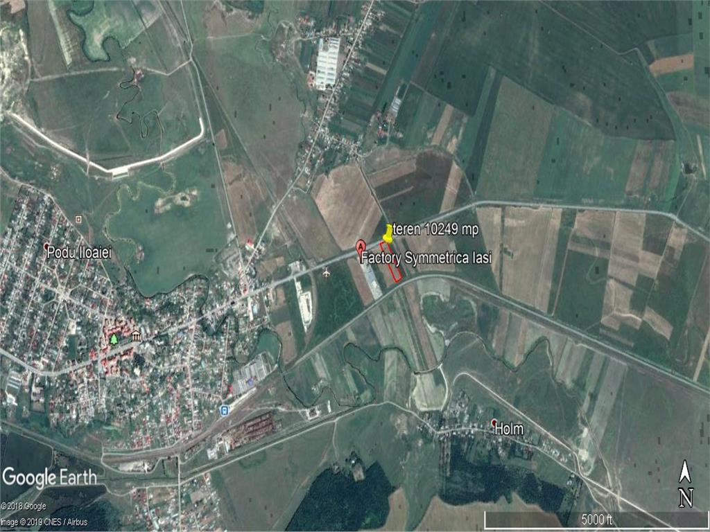 teren intravilan cu acces din  E583 pentru dezvoltare industriala