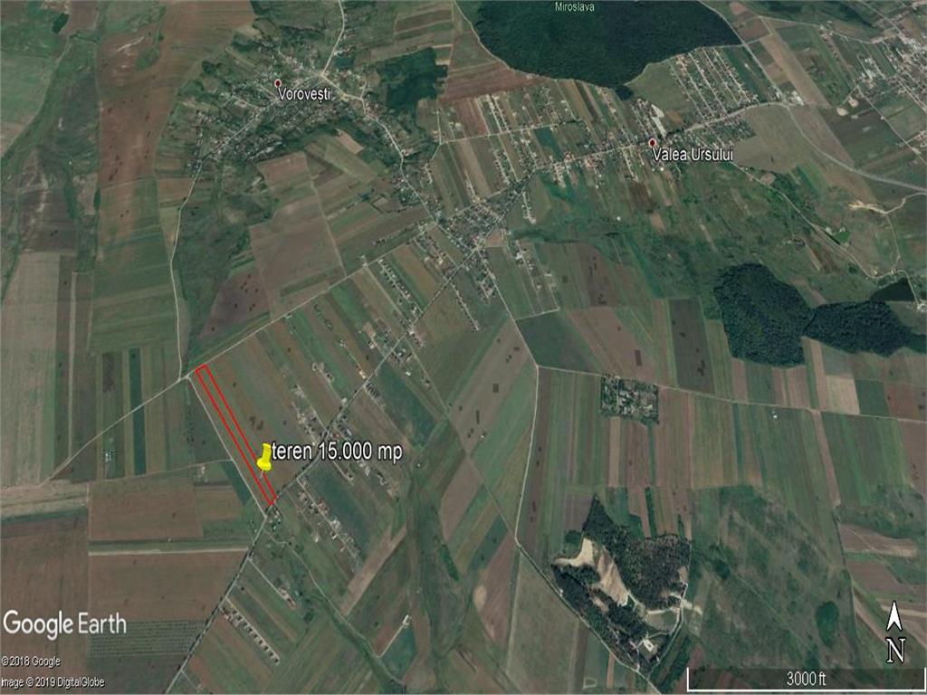 teren intravilan, 15.000 mp, in  Valea Ursului