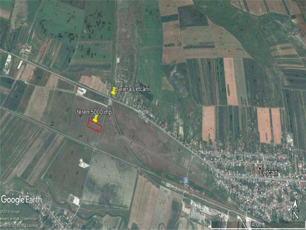 teren Letcani,  5000 mp cu PUZ  oportunitate investitie