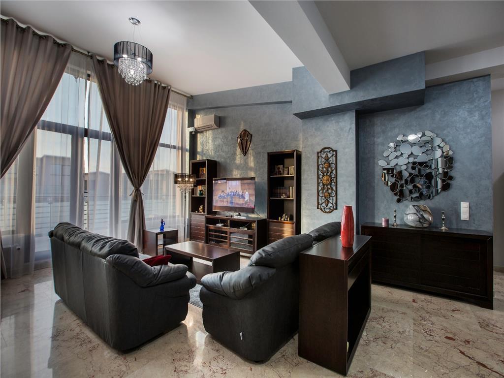 Se inchiriaza, Penthouse Exclusive Residence, 102mp utili, 2dormitoare, terasa 58mp, mobilat si utilat de lux