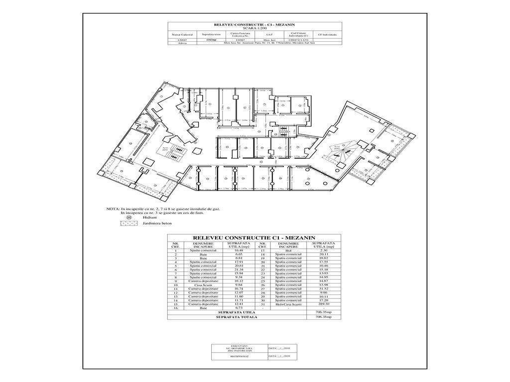 Inchiriere spatiu comercial+ birouri D+ P + M in suprafata de 1760 mp situat in zona Sfantul Lazar Anastasie Panu