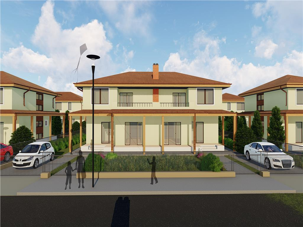 De vanzare,Casa tip duplex,123 mp, Bucium