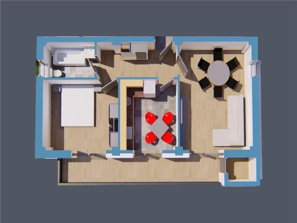 Apartament 2camere decomandat, 60mp
