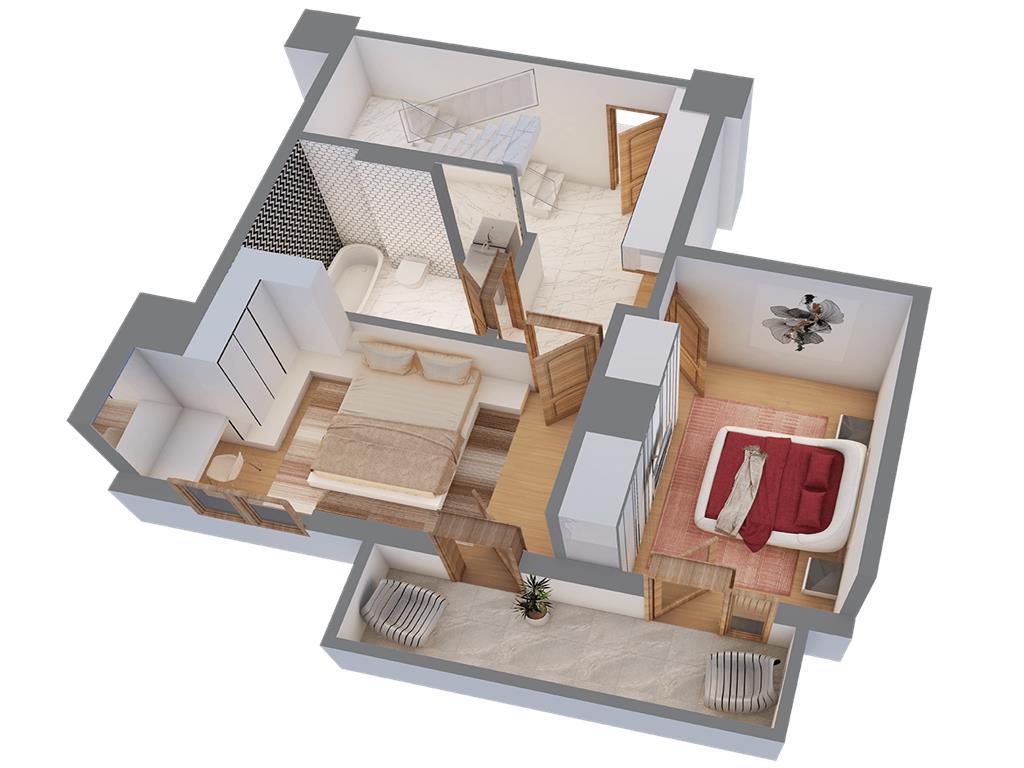 Penthouse 4 camere, 135 mp, Centru  Palas