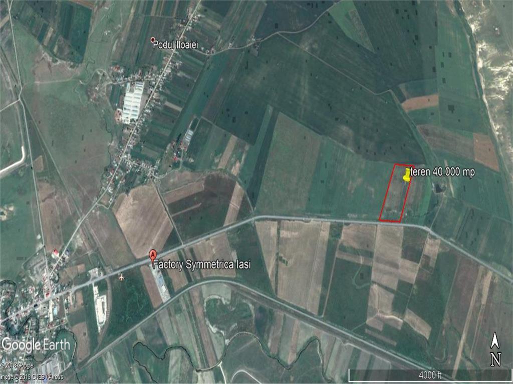 teren, 40.000 mp, E583,  intre Letcani si Podu Iloaiei