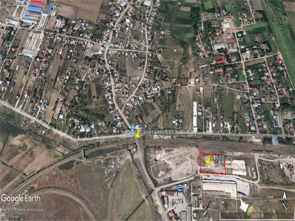 teren, 6800 mp cu deschidere 100 m la drum asflatat  , pt dezvoltare industriala