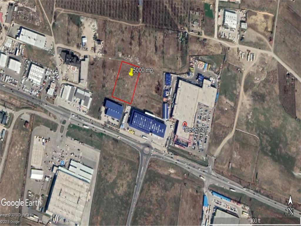 teren, 5000 mp cu acces direct la E583 ,pt hala industriala