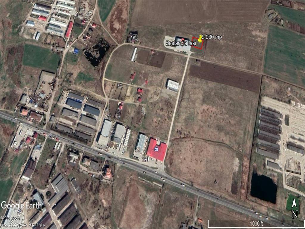 teren 2000 mp cu acces la E583 , ideal  pentru depozit  industrial