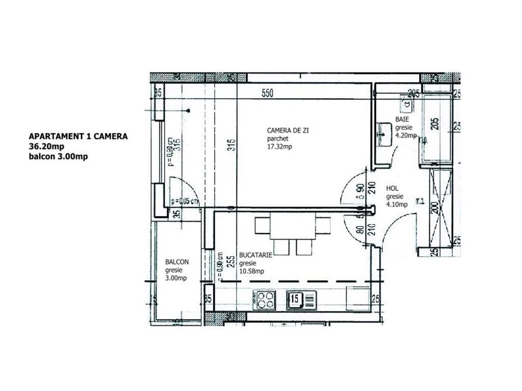 Apartament 1 camera, 39.20 mp, Bloc Nou, Pacurari, parcare si boxa incluse