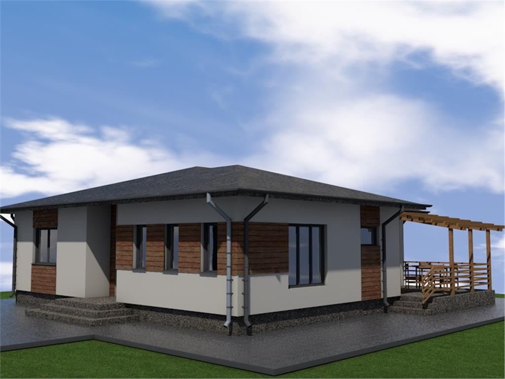 Casa single  parter moderne in cel mai nou cartier din Aroneanu