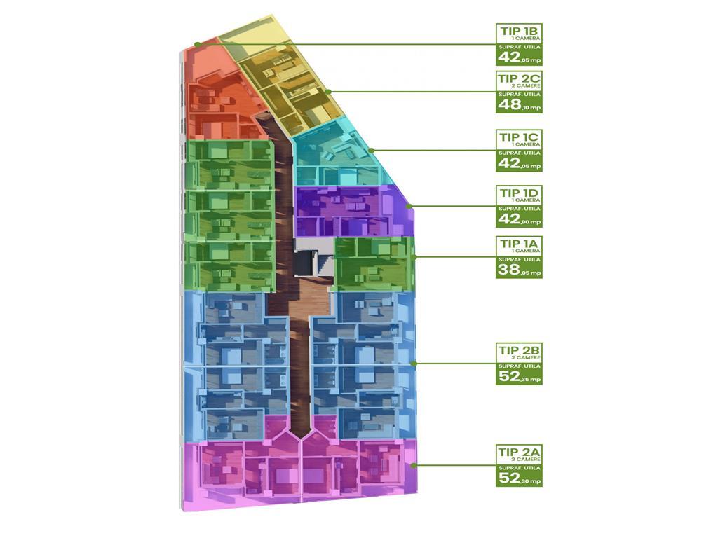 Comision 0%  Ap 2 camere, bloc nou, 68.4 mp, Tatarasi