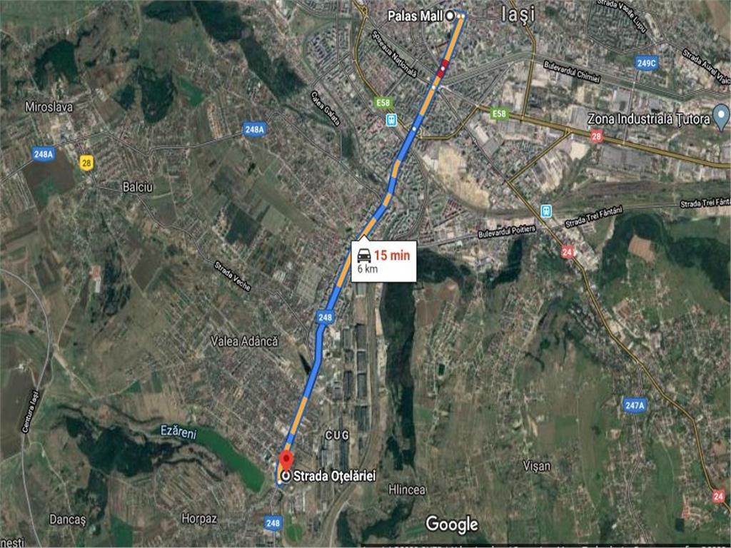 Teren Cug 8611mp la 6 km de Palas Mall
