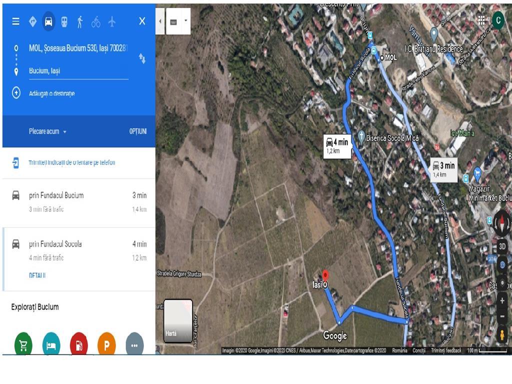 teren, 1000 mp, pentru constructie casa in  Iasi zona  Bucium