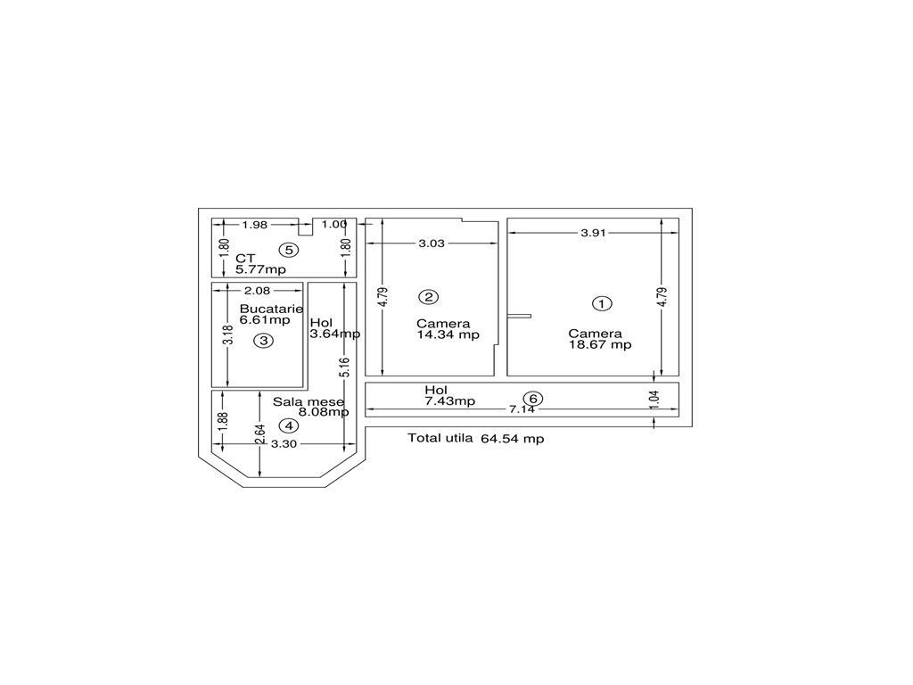 Casa 3 camere + teren 250 mp, Central  Sf. Andrei