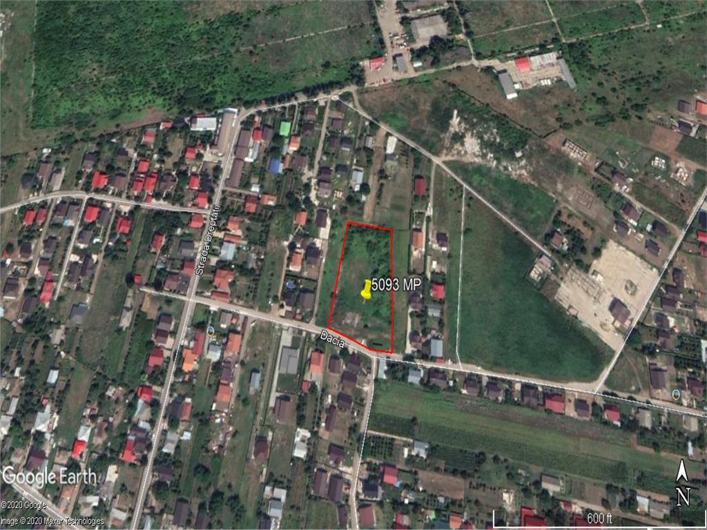 teren cu deschidere 60 m la drum asflatat  , in Dancu , strada Dacia
