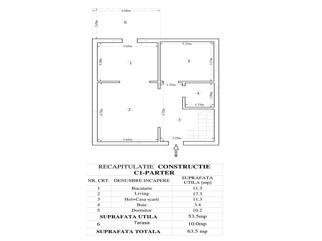 De vanzare,Casa Bucium, 108mp utili + 10mp terasa+ 385 Teren