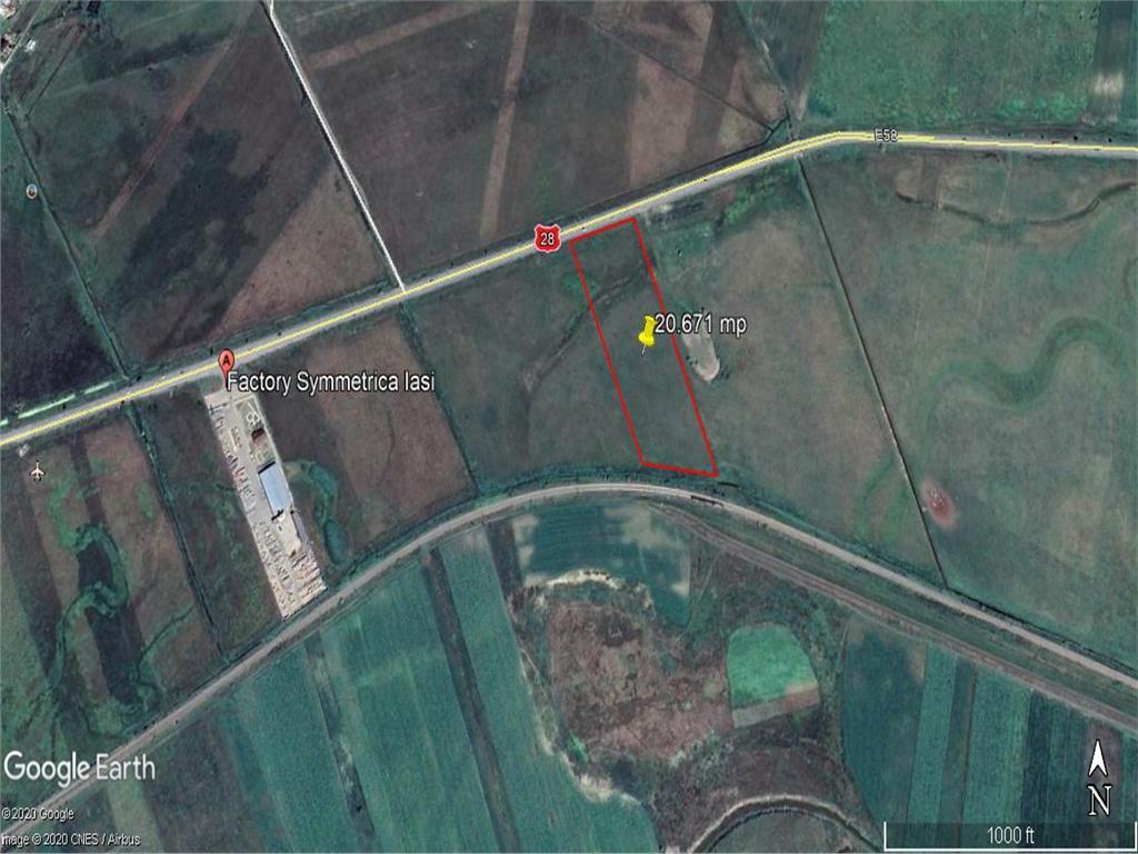 teren intravilan la intrare in Podu Iloaiei