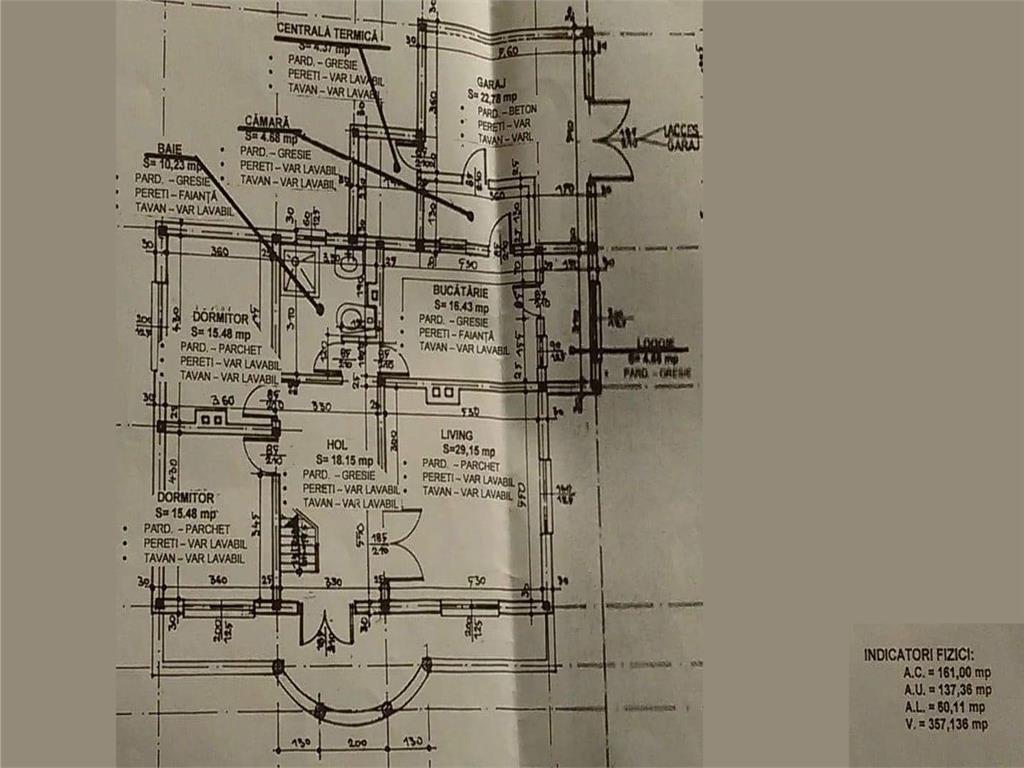 Vila la Gri, P+1E+Pod, 7 camere, 260 mp, 1.000 mp teren, Miroslava  Notariat