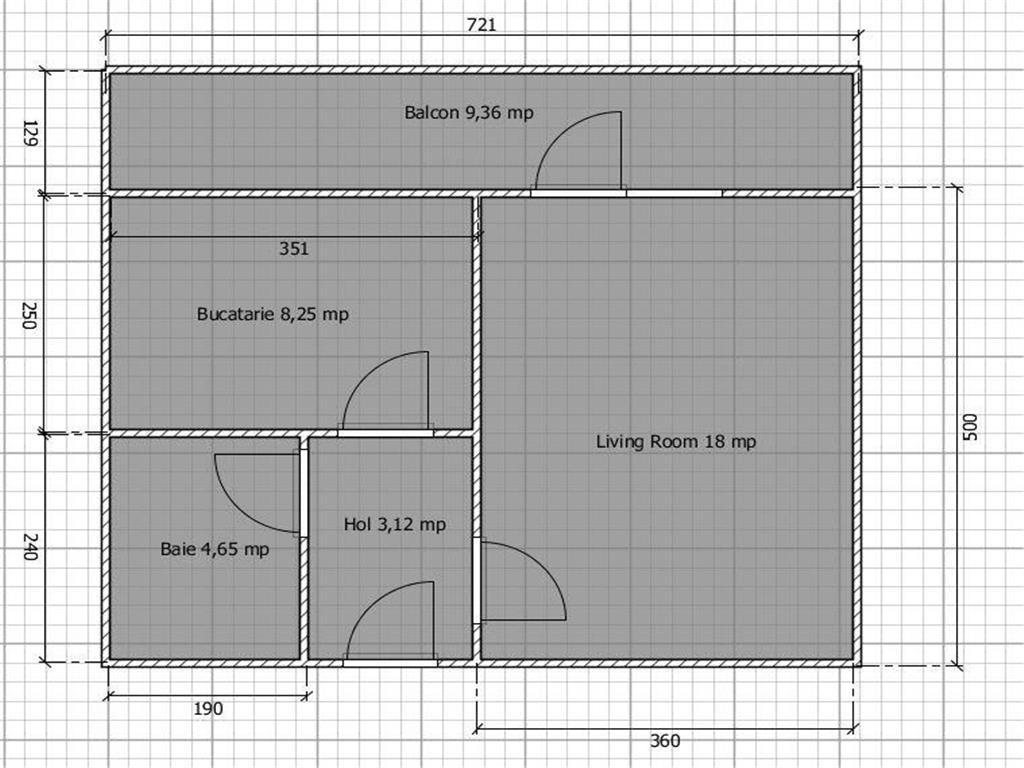 COMISION0%. Apartament 1 camera,43,38 mp,Bucium