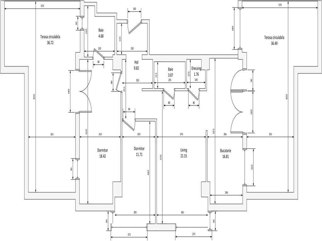 COMISION 0%, Apartament 3 camere exclusivist, 91 mp utili + 73 mp terasa