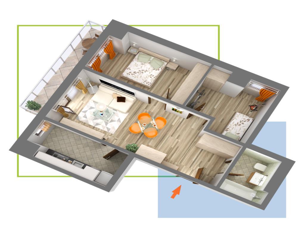 Nicolina, apartamente cu 1,2,3 camere, pret promotional