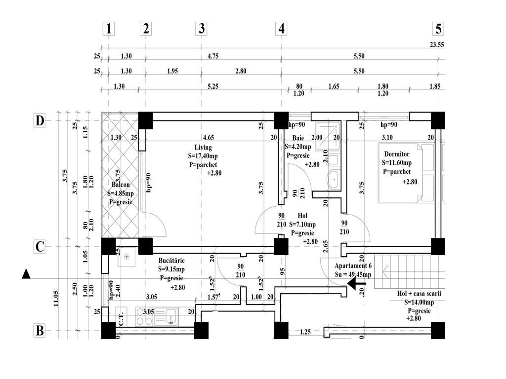 Apartament 2 camere decomandat 50mp utili+balcon, constructie noua, Comision 0