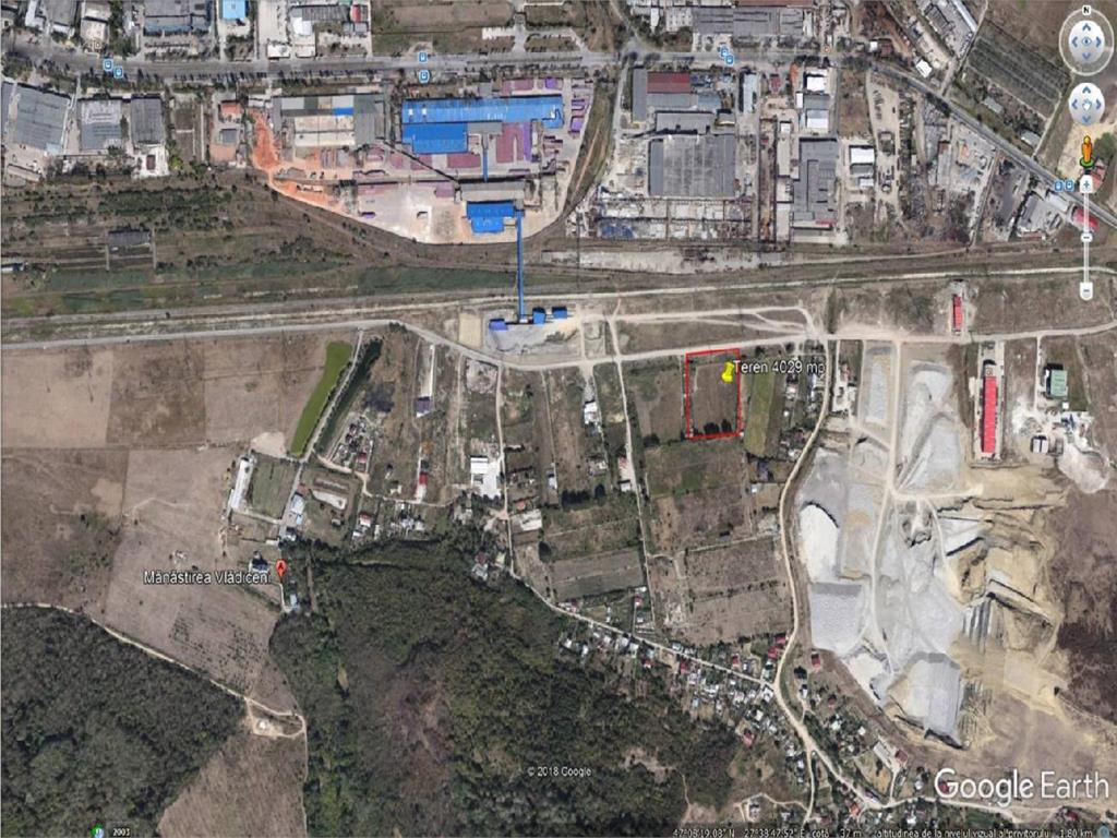 Teren 4026 mp Iasi, Strada Trei Fantani,  ideal pentru hala industriala