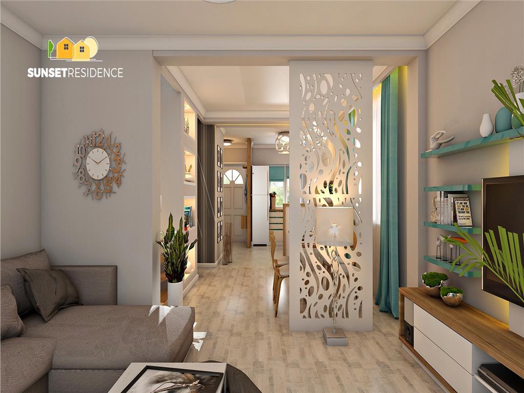Duplex finalizat, 34 camere, 115 mp, Rediu  Gradinita Kiki