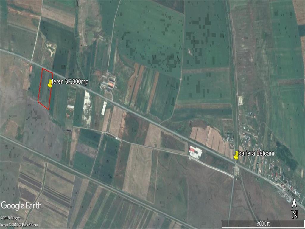 teren 37.000 mp, E85  ideal pentru investitii