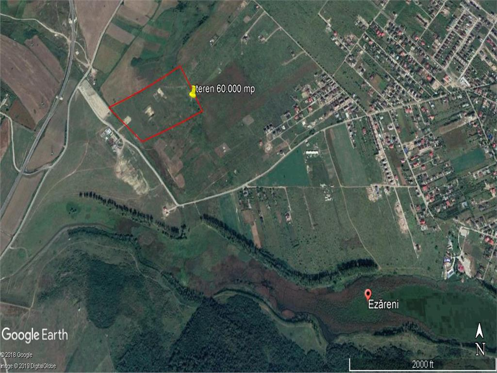 teren 60.000 mp langa lacul Ezareni cu posibilitate de parcelare