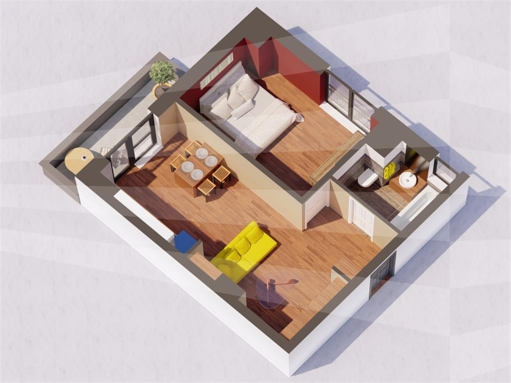Ap 2 camere, bloc nou, 46.3 mp, Centru  Gara(Str. Arcu)