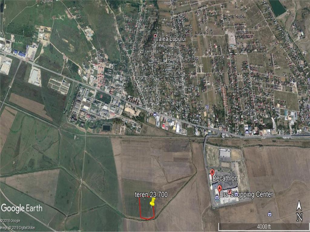 teren  23700 mp , langa Complexul Comercial  Era