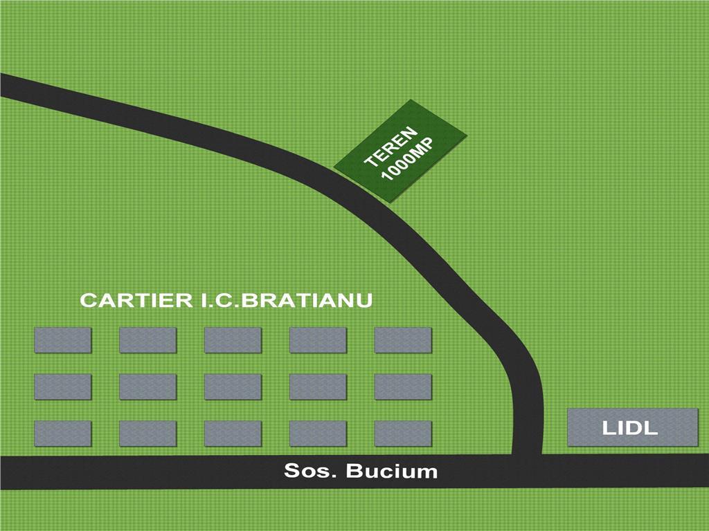 Teren 1000 mp ,  Bucium  I.C. Bratianu