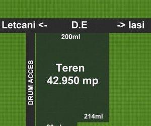 Teren vanzare 42950 mp. Iasi- Metro