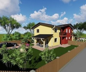Casa tip duplex, 110 mp si 450 mp teren, zona Horpaz