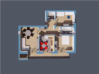 Apartament 3camere decomandat, 78mp