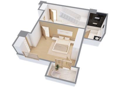 Penthouse 3 camere, 180 mp, Centru  Palas