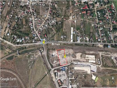 teren, 6800 mp cu deschidere 60 m la drum asflatat  , pt dezvoltare industriala