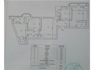 Ap 4 camere, 94mp, bloc din 1989, Zimbru  Tigarete