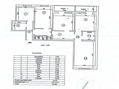 Ap 4 camere decomandat, et 3/8, 91 mp, Alexandru  Rond 28