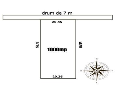 Teren 1000 mp ideal constructie casa la 700m de Popas Pacurari