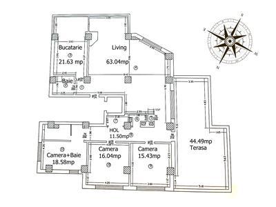 Penthouse 200mp, 4 cam, priveliste deosebita, Copou  Univ. Cuza