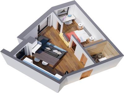 Comision 0%  Ap 3 camere, bloc nou, 90.8 mp, Tatarasi