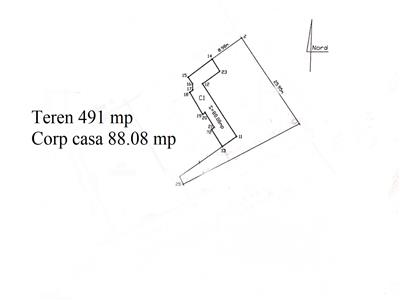 Teren 491 mp + corp casa 88 mp, Copou - zona Ralet